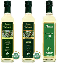 Arette Tea Seed Oils Sampler